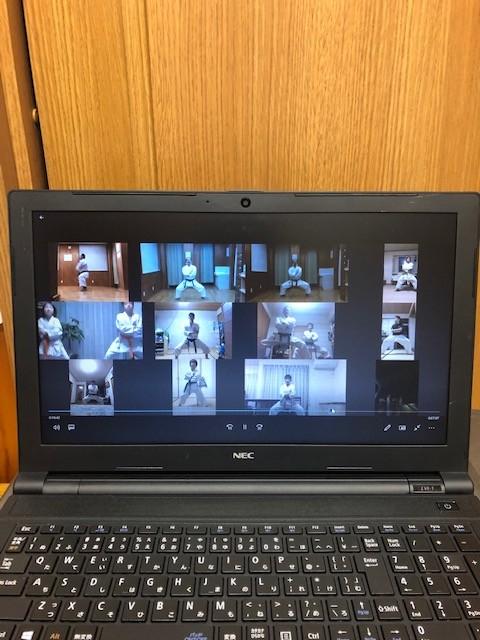 5月20日 水曜日 隆清館豊田道場は、Zoomでオンライン稽古しました。